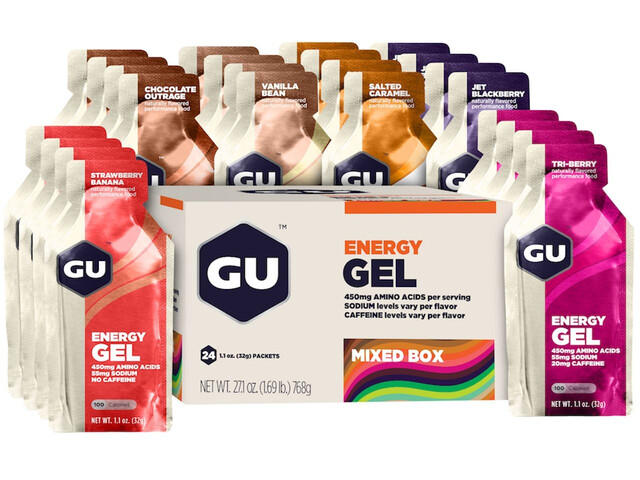 GU Energy Gel Box 24 x 32g, Mixed